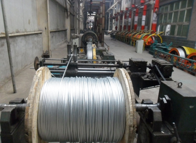 Galvanized Steel Strand Workshop